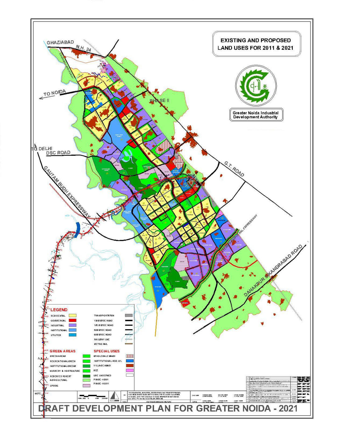 Greater Noida Map Master Plan 2021 | Greater Noida Greater Noida Map